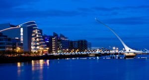 Dublin River Liffey Blue Hour bridge Dusk Ireland.jpg
