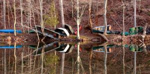 Winters Wait boats reflected Ragged Mountain Reservoir Charlottesville Virginia.jpg