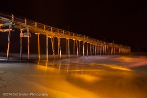 Avon Pier at Night with Light Painting Outer Banks North Carolina.jpg