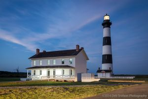 Bodie Lighthouse at Dusk Nags Head in the Outer Banks North Carolina.jpg