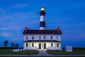 Bodie Lighthouse at dusk Nags Head Outer Banks North Carolina.jpg
