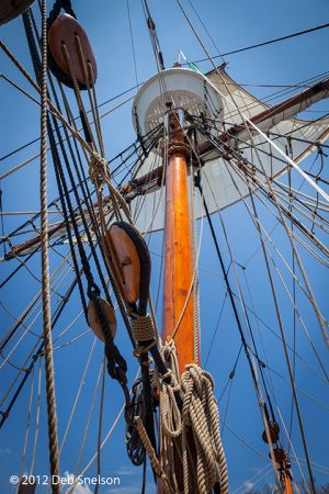 Elizabeth II Ship mast Roanoke Island Festival Park Manteo Outer Banks North Carolina.jpg