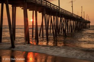 Fire and Water Rodanthe Pier sunrise Outer Banks OBX North Carolina NC.jpg