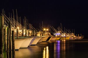 Glowing Fishing Fleet Nags Head Outer Banks North Carolina.jpg