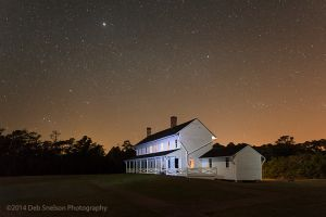 Hatteras Lighthouse Keepers House Cape Hatteras Night Stars.jpg