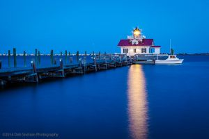 Roanoke Marshes Lighthouse Manteo Outer Banks North Carolina dusk.jpg
